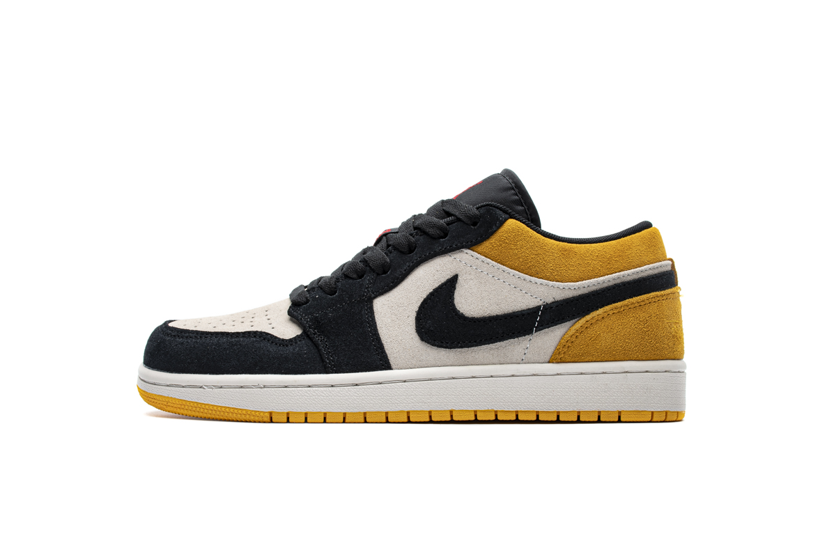 乔1低帮 黑黄脚趾 Air Jordan 1 Low University Gold