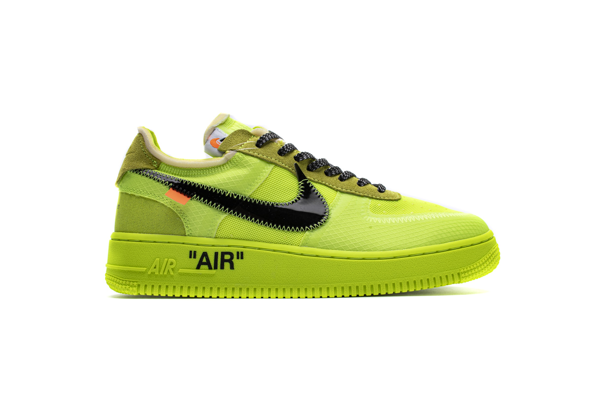 STOS空军 荧光绿 OFF WHITE X Nike Air Force 1 Low  Low Volt