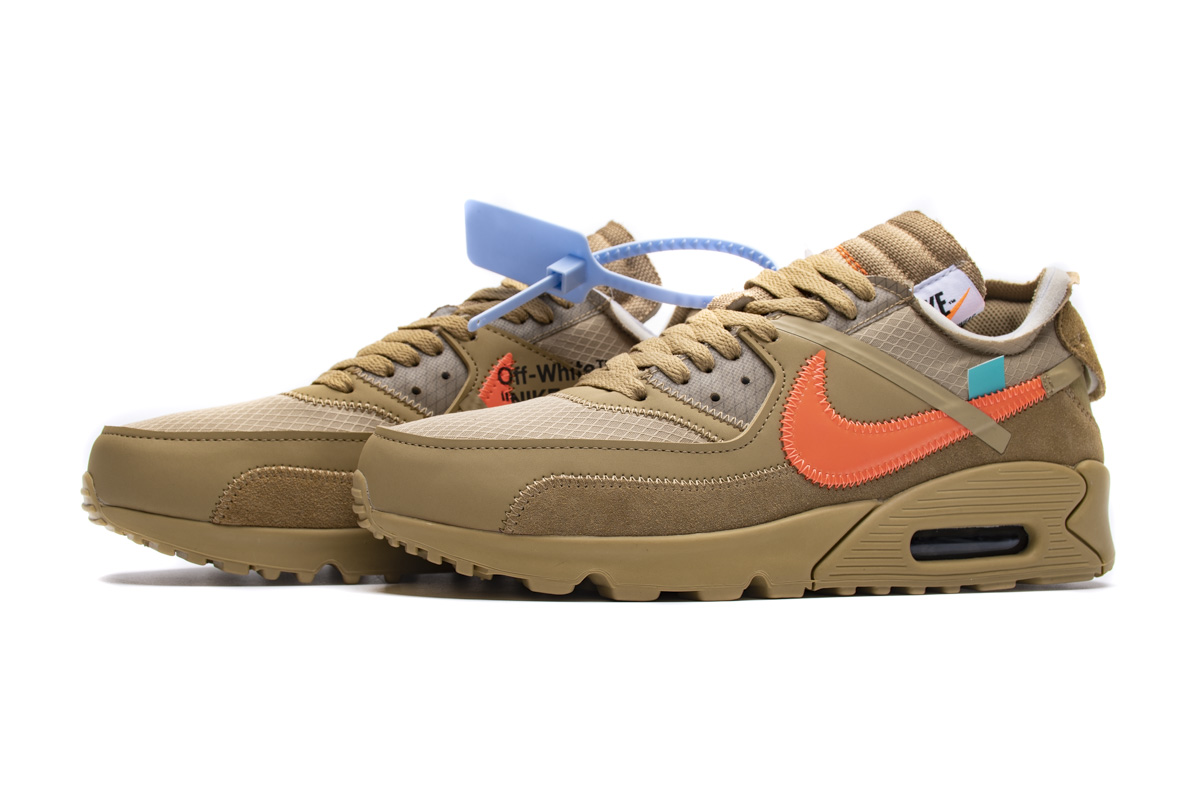 STOS 90 沙漠色OW OFF-WHITE x Nike Air Max 90  Desert Ore