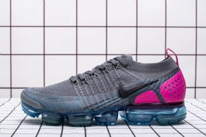 特2018 黑灰梅红 特2018 Nike Air VaporMax Flyknit 2 Gunsmoke Blue Orbit
