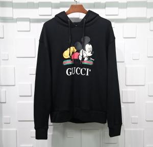 古驰衣 CL 帽衫米奇老鼠黑 Gucci Black