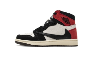 35乔1 倒钩黑红  35乔1 Air Jordan 1 High OG TS SP Black Red