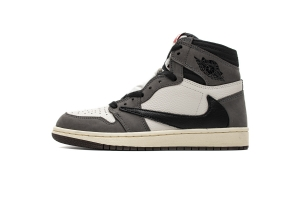 35乔1 倒钩黑灰  35乔1  Air Jordan 1 High OG TS SP White Grey