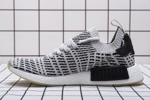 YJ R1 黑灰801-2 YJ R1  adidas NMD R1 Stlt PK Black Grey White Fishscale Boost