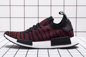 YJ R1 黑红801-5 YJ R1 adidas NMD R1 Stlt PK Black Red Fishscale Boost