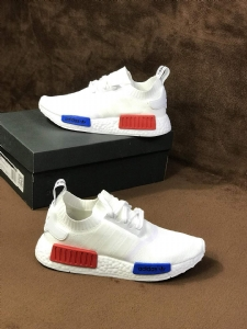 R1 白蓝红 Adidas NMD R1 Boost Primeknit White
