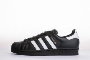 贝壳头 黑金标 Adidas Originals Superstar  Black gold Label