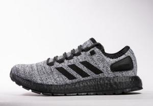小椰子 黑灰 Adidas Pure Boost Running  black gray