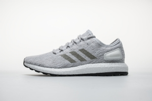 小椰子 亮白灰-17 Adidas Pure Boost Running  Bright Grey