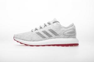 小椰子 灰红 Adidas Pure Boost Running  Grey Red