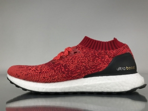 UB袜子 白红 Adidas Ultra Boost Uncaged Real Boost White Red