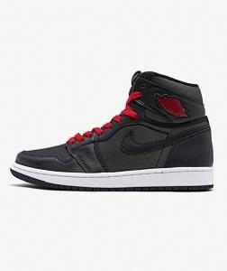 GET乔1 黑红丝绸 Air Jordan 1  Black Satin Gym Red