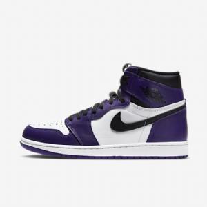XP 乔1 白紫脚趾 Air Jordan 1  Court Purple