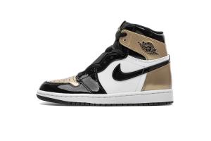 "XP 乔1 黑金脚趾  Air Jordan 1  Retro High OG ""Gold Toe"
