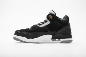 乔丹3代 黑白反光勾 Air Jordan 3 Air Jordan 3 Retro Tinker Black Cement Gold