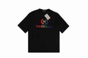 巴黎世家短袖 彩虹稻穗 Balenciaga Black