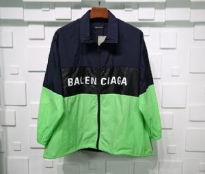 巴黎世家衣 CL 冲锋拼接蓝绿 Balenciaga Blue Green
