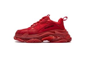 LD复古气垫 大红气垫 Balenciaga Bright Red