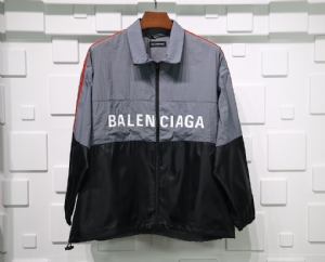 巴黎世家衣 CL 冲锋拼接灰黑 Balenciaga Grey Black