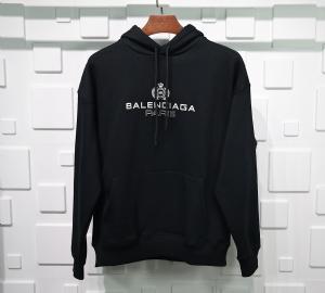 巴黎世家衣 CL 帽衫皇冠麦穗黑 Balenciaga Black