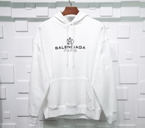 巴黎世家衣 CL 帽衫皇冠麦穗白 Balenciaga White