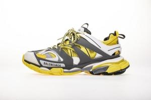 JC巴黎3代 灰黄 Balenciaga Tess S. Triple Black Grayish Yellow