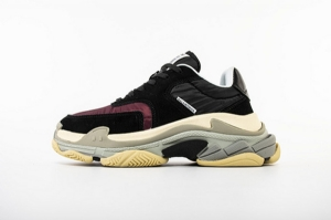 LD二代复古 二代黑酒红 Balenciaga Triple S 2.0 Black Wine Red