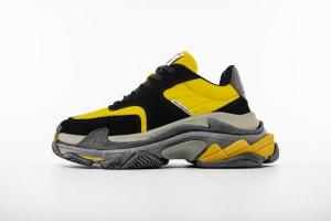 LD二代复古 黑黄 Balenciaga Triple S 2.0 Black Yellow