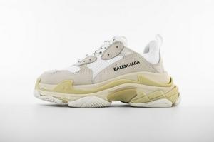 LD一代复古 一代全白 Balenciaga Triple S All White