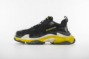 LD一代复古 一代黑黄 Balenciaga Triple S Black Yellow