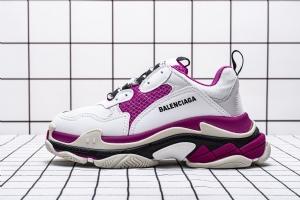 LD一代复古 一代浅灰紫红  Balenciaga Triple S W09OH 8082 Balenciaga Sneaker TessS.Gomma LT.Grey Purple Red