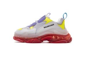 LD复古气垫 紫黄红 Balenciaga W09OH 8081 Balenciaga Sneaker TessS.Gomma Purple Yellow