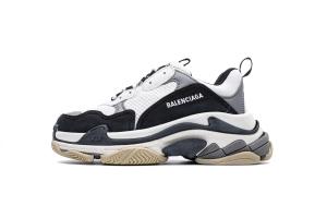 LD复古气垫 白中灰  Balenciaga W09OH 8082 Balenciaga Sneaker TessS.Gomma White Black Grey