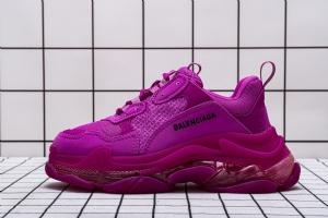 LD复古气垫 玫红 Balenciaga W09OH 8085 Balenciaga Sneaker TessS.Gomma Rose Red