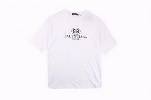 巴黎世家短袖 双B印花白 Balenciaga White