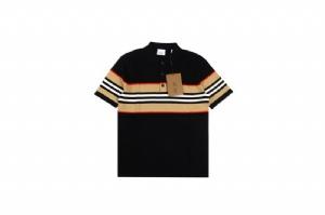 Burberry(巴宝莉)短袖 条纹POLO Burberry Black