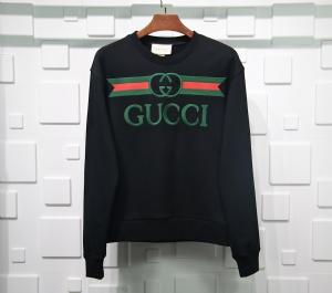 古驰衣 CL 卫衣绣花字母黑 Gucci Black