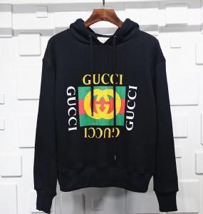 古驰衣 CL 帽衫方块涂鸦黑 Gucci Black