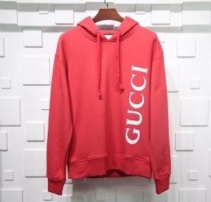 古驰衣 CL 帽衫侧边大LOGO红 Gucci Red