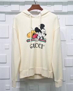 古驰衣 CL 帽衫米奇老鼠白 Gucci White