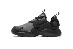 华莱士 全黑皮面981P-2 hls  Nike Air Huarache City Low Black