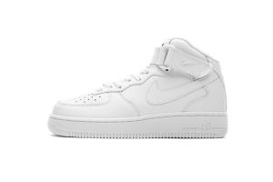 耐克空军一号中帮 中帮全白 Nike Air Force 1 Low 07 LV8 MID White