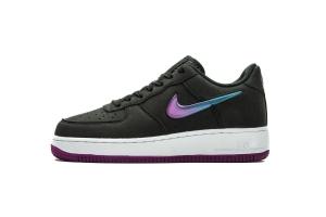 空军低帮 黑紫果冻 Nike Air Force 1 Low Black Purple Jelly