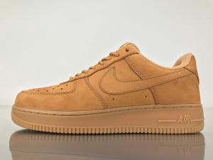 GS空军低帮 小麦 Nike Air Force 1 Low Chamois Wheat