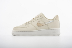 GS空军低帮 米黄果冻 Nike Air Force 1 Low Jelly Puff