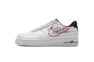 GS空军低帮 解构白红 Nike Air Force 1 Low Nike Air Force 1 '07 LV8 White Black Pure Platinum