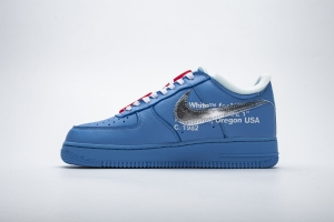 GS空军低帮 蓝色OW Nike Air Force 1 Low Off-White MCA University Blue