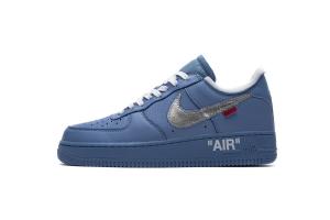 空军低帮 蓝色OW联名 Nike Air Force 1 Low Off-White MCA University Blue