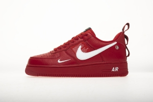 GS空军低帮 简版大红 Nike Air Force 1 Low Red/White