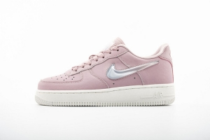 GS空军低帮 粉色果冻 Nike Air Force 1 Low White Pink